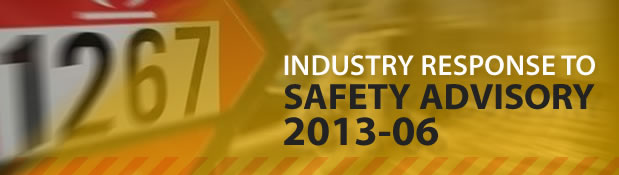 Industry Response to Safety Advisory 2013-06