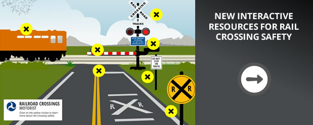Go to interactive resources for rail crossing safety